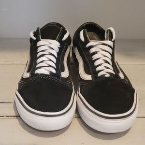 Vans..classic black suede and fabric